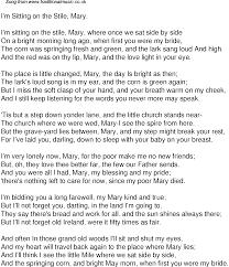 Light In Your Eyes Lyrics Old Time Song Lyrics For 47 I U0027m Sitting On The Stile Mary