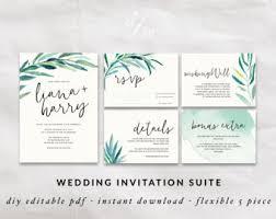 watercolor invite etsy