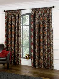 Terracotta Curtains Ready Made by Covent Garden Lined Curtains In Claret Free Uk Delivery Terrys