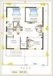 Home Design Plans 900 Square Feet 5 Gorgeous 900 Sq Ft House Plans North Facing Arts 2 Bhk Plan
