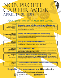 Resume For Non Profit Job by 2017 Academy Weeks Nonprofit Week April 17 21 Career Center
