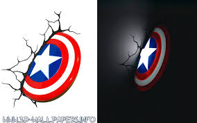 captain america shield light target 10 cool 3d deco light in usauk superhero 3d night lights