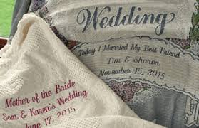 personalized wedding gifts embroidered monogram throws