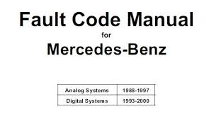 mercedes benz service repair manuals pdf free downloads