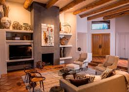 southwest style homes keeping the original flooring and timber wood beams grounded the