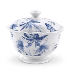 portmeirion botanic blue covered sugar bowl portmeirion uk