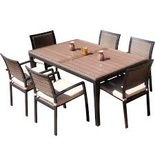 7 Piece Patio Dining Sets - shop patio dining sets at lowes com endearing enchanting 7 piece