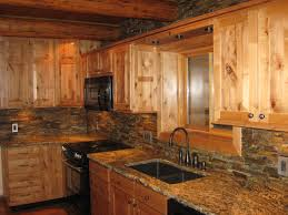 excellent custom made rustic alder cabinets for large space