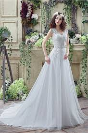 faerie wedding dresses princess a line tulle lace wedding dress with crystals belt buttons
