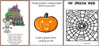 halloween articulation songs worksheets pediastaff pediatric