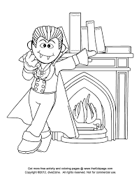 cartoon vampire halloween free coloring pages kids