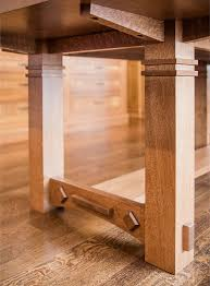 gorgeous white oak dining room table enhances this craftsman style