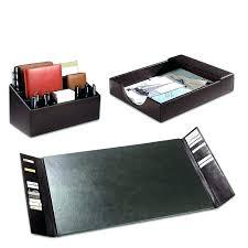 Desk Set Organizer Leather Desk Accessories Office Desk Set Leather Desk Set Bomber