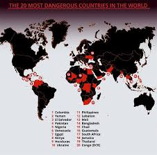 Is It Safe To Travel To Thailand images Mapped most dangerous countries in the world revealed including jpg
