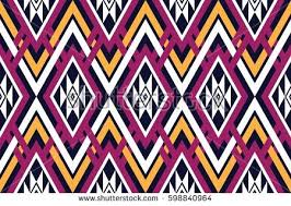 Traditional Design Seamless Vector Abstract Pattern Symmetrical Geometric Stock