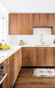 mid century modern walnut kitchen cabinets loud hits of colour take mid century modern design to lively