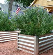 Lifetime Raised Garden Bed I Love The Look Of This Corrugated Sheet Metal Raised Bed Would