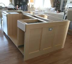 base cabinets for kitchen island cabin remodeling using wall cabinets as bases for unique kitchen