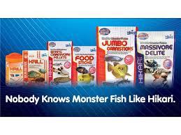 hikari massivore sinking pellets jumbo carnisticks floating tropical fish food tailsnteeth