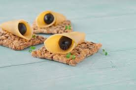 canapé made in canape made cookies with cheese and black olives stock photo image