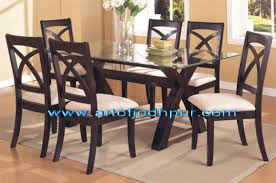 Sheesham Wood Glass Top Dining Set Used Dining Table For Sale In - Glass top dining table hyderabad