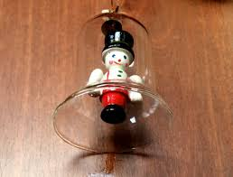 Glass Bell Christmas Ornaments - vintage christmas ornament blown glass bell u0026 by oldstnicksattic