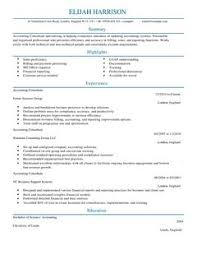 Management Consulting Resume Examples by Consultant Cv Example For Accounting Finance Livecareer