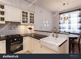 stylish kitchen new stylish kitchen small dining room stock photo 119831050