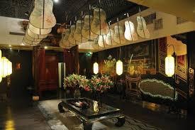 elegant reception area of the wuyutai nei fu restaurant beijing