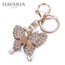 butterfly necklace aliexpress images Havaria high quality rhinestone butterfly jewelry keychain women jpg
