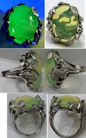 art deco dolphin ring holder images 60 best uranium glass images glitter glow and jpg