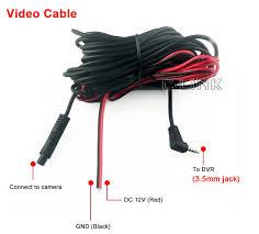 2 5 3 5mm jack port 4 pin night vision car rear view camera