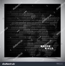 dark old black brick wall vector stock vector 98710922 shutterstock
