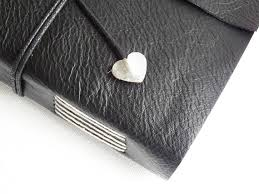 Leather Memory Book Black Leather Wrap Journal Blank Book Memory Book Leather