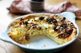 cuisiner chou pointu tarte au chou pointu chèvre câpres coriandre et cumin les
