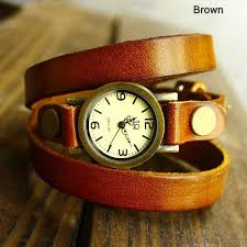 bracelet leather watches images Retro and fashion wrap handmade leather bracelet watch bracelet jpg