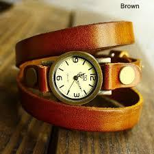 vintage leather bracelet watches images Retro and fashion wrap handmade leather bracelet watch bracelet jpg
