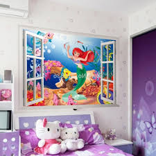 kids room healthy kids bedrooms decorating ideas for funny feels kids room small size the little mermaid fake window cartoon wall stickers pertaining to little