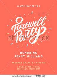 farewell party invitation farewell party invitation template stock vector 737493556