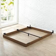 Solid Bed Frame King Zinus 5 In King Wooden Bed Frame Hd Wdbf 5k The Home Depot