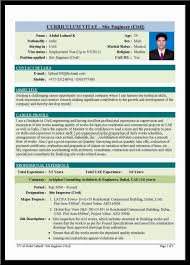 Civil Engineering Sample Resume Sample Resume Civil Engineer
