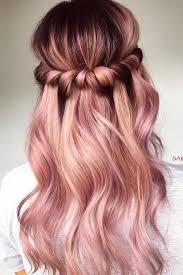 rose gold hair color 20 rose gold balayage inspiration for you rose gold balayage