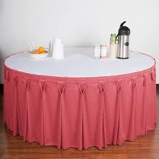table skirt clips with velcro drape wyn6v21629 dus wyndham 21 6 x 29 dusty rose bow tie pleat