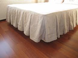 linen pleated bed skirt bedroom pinterest cal king size bed