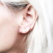 ear piercing hoop 15 cool girl ear piercings we discovered on byrdie