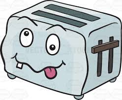 toast emoji crazy looney pop up toaster emoji cartoon clipart vector toons