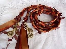 fasting cord autumn fasting cord leaves fall wedding tree charms orange