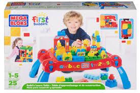 mega bloks first builders table mega bloks first builders build n learn table toy retailers