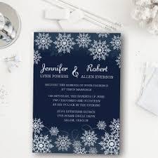 christmas wedding invitations affordable blue snowflake winter wedding invitation ewi368