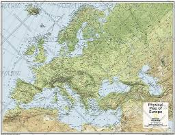 europe phisical map europe physical atlas of the world 10th edition by national